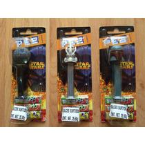 Set De 3 Pez Candy Dispenser Star Wars Boba Fett Grievous