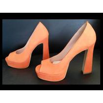 Exclusivo Sapato De Salto Alto Em Couro Da Datelli