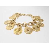 Pulseira Feminina 10 Mandamentos Dourada Top