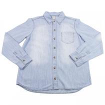 Camisa Jeans Infantil Masculina Hering Kids Manga Longa