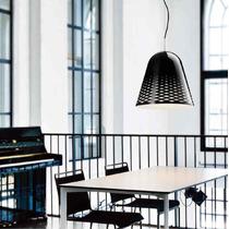 Luminaria Pendente Vidro Preto Vazado / Bancada Sala Quarto
