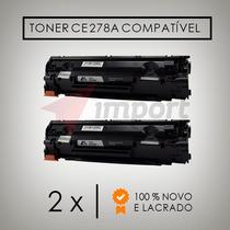Kit 2 Toner Compatível Hp Ce278a Hp1606 1566 1536 100%novo