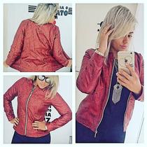 Jaquetas Couro Ecológico Fashion P M G Blusas Femininas