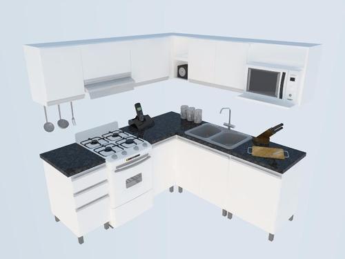 Mueble De Cocina En L 2x2 Mts Manijas J Aluminio Melamina - $ 24.130 ...