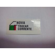 Etiqueta Adesivo De Ajuste De Corrente Original Honda Unid.