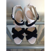 :::. Zapatos Negros Con Blanco Topshop, Nro 40. :::::