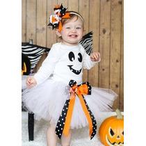 Tutu Disfraz Halloween Dia Muertos Fantasma Calabaza Bruja