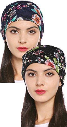 Gorro Turbante De Encaje Floral Elegante Para Mujer De Ababa -   866.79 en  Mercado Libre d73c55d0167