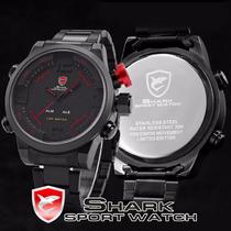 Relógio Shark Militar Sport Digital Analogio + Corrente Inox