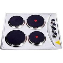 Anafe Electrico Clever 4 Hornallas Acero Inoxidable Cocina
