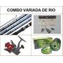 Combo Pesca Caña Reel Accesorios Para Variada De Rio #5