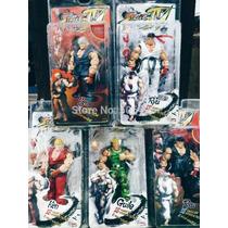 Street Fighter Iv Survival Modelo Ken Ryu Guile 18 Cm Neca