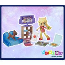 Mini Equestria Girls Applejack Juegos Pijamada Little Pony