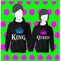 Buso Chompa Estampado Personalizado R: King Queen Novios .x2