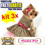 Kit 3 Peças Roupas Cachorro Vestido Pet 50 Modelos Dog
