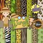 Kit Imprimible Pack Fondos Safari 95 Clipart