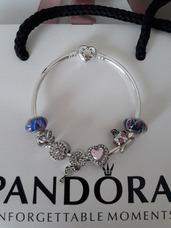 d886efb34c45 Pulseras Modelo Pandora Bañadas En Plata Charms Incluidos