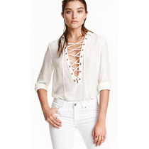 Camisa Mujer Cruzada H&m. Mercadoenvio A Todo El Pais!