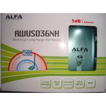 Alfa Network Adaptador Wifi Usb 11n Ralink 2w 5dbi