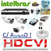 Kit 3 Cameras Hdcvi 720p Infra Dvr 8 Canais Intelbras Hdcvi