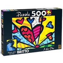 Quebra-cabeça - Romero Britto - A New Day - 500 Peças - Grow