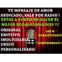 Regalo Original Sorpresa Unica Mensaje Dedicado Por Radio