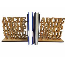 Suporte Aparador De Livros, Cd, Dvd Em Mdf - Letras Alfabeto