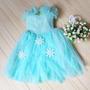 Vestido Fantasia Roupa Infantil Elsa Frozen Princesa