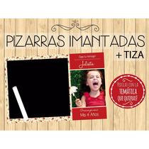 15 Pizzaras Imantadas+tiza 15x21cm Personaliz Foto/personaje
