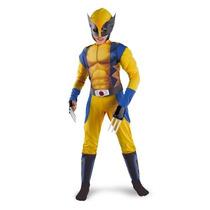 Classic X-men Wolverine Muscle Child Costume - Medium (7/8)