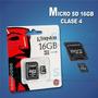 Memoria Micro Sd 16 Gb Kingston Original Class 4 Itelsistem