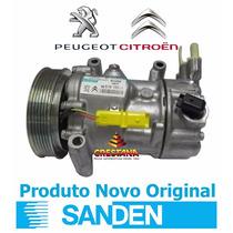 Compressor Do Ar Condicionado Citroen C4 Sd6c121351f Sanden