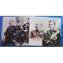 Coleção De Postais Da Família Real Portuguesa Coloridos Mão