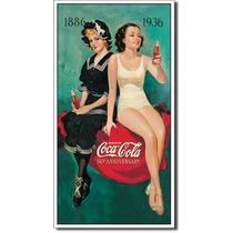 Coca Cola 50 Aniv Retro Vintage Letrero Retro Lamina Poster