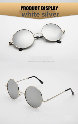 Óculos De Sol Redondo Prata Lennon Lentes Prata  frete Rs 10 - R  29,59 em  Mercado Livre 5d2ecaefb2