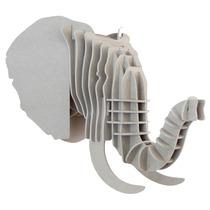 Elefante Gris Cabeza Decorativa Animal Trofeo Valchromat8mm