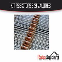 Kit 210 Resistores 21 Valores (10 Cada) 1/4w 1%