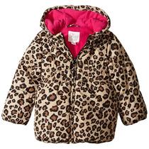 Casaca Piel De Leopardo Con Capucha Para Niñas