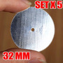 5 Sierras Corte Metálicos Dentadas 32mm Mini Torno Dremel X5