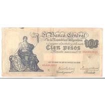 Bottero # 1895 - 100 (cien Pesos M/n) Año 1937