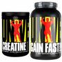 Gain Fast 3100 5lbs + Creatina 500g - Universal Nutrition