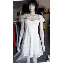 Vestido Ajustada - Balada - Renda - C/gripir -bordado C/tule