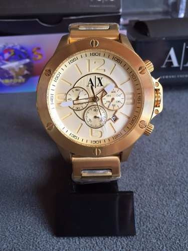 ea4b04af5da Relogio Armani Exchange Ax1504 Dourado Caixa Manual Garantia - R  576