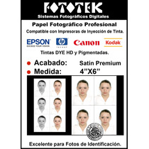 Papel Fotográfico Excelente Para Fotos De Identificación 4x6