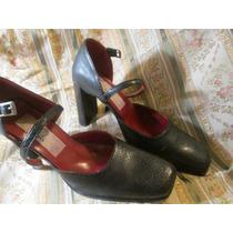 Zapato Estilo Tango O Para Tangueria Buen Cuero Talle 38