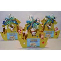 Centro D Mesa Arca De Noe Con Fig Pasta Baby Shower Comunion