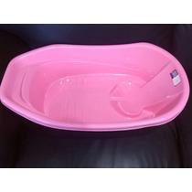 Bañera Ponchera Plástica Para Bebe (rosado Y Azul), Nuevas..