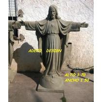 Escultura Estatua Jesus Cristo De Cemento Imagen Religiosa