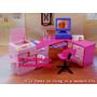 Escritório Para Boneca Barbie *cadeira Mesa Computador