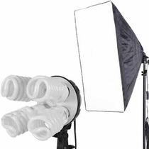 Kit Iluminação Contínua Newborn Filmagem Softbox E27 Tripé